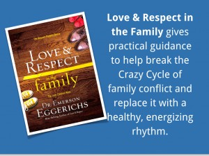 Love and Respect in the family gives practical guidance to help break the Crazy Cycle of family conflict and replace it with a healthy, energizing rhythm.