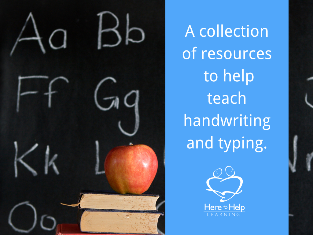 HTHL Resources on handwriting and typing.