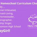 My Homeschool Curriculum Choices for My BusyGirl