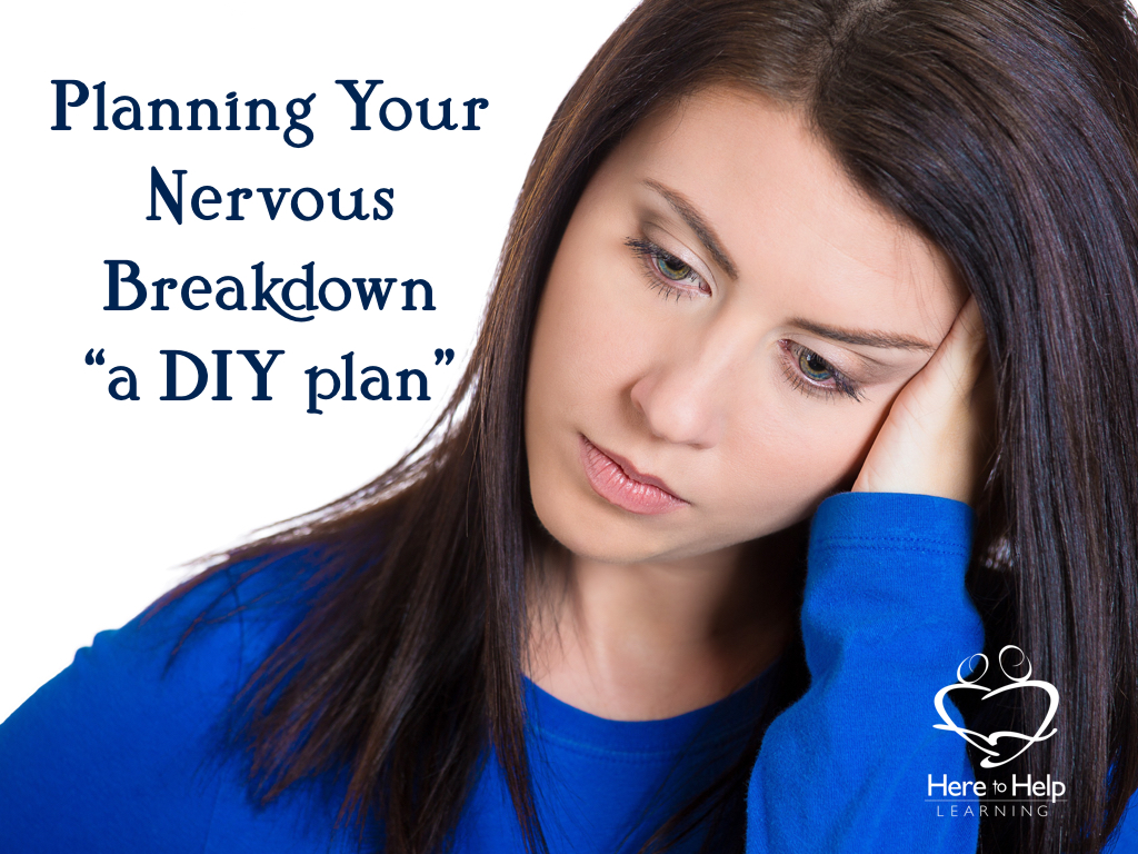 nervous breakdown help Topic: nervous/mental breakdown & it's being ignored 3 posts, 0  i need to  help myself but i do not have the time to do so what should i do.