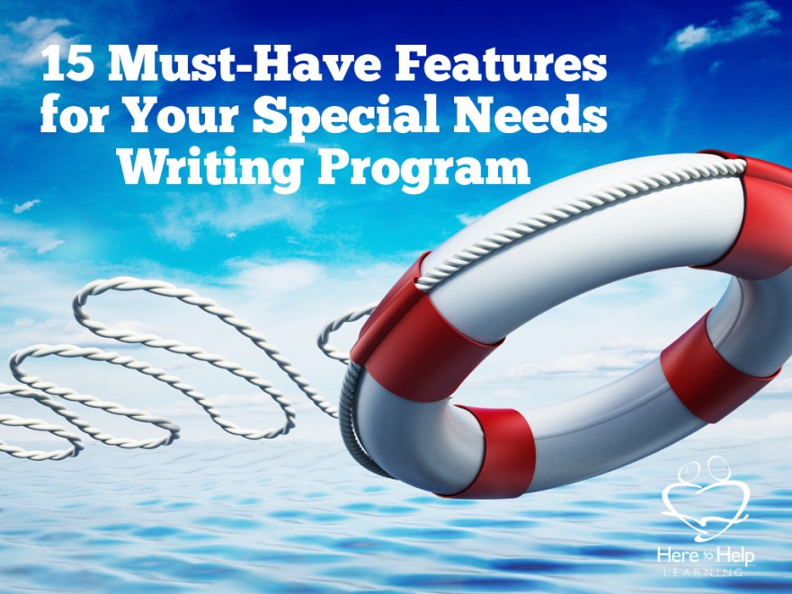 Special needs writing program