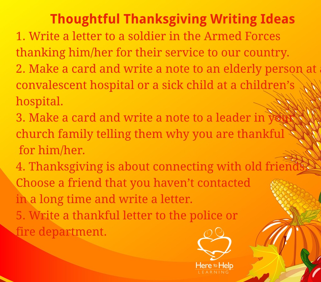 thanksgiving essay assignment Assignment: create your own pilgrim: who would it be, how would you describe them, how would they fit into the prologue of the canterbury thanksgiving essay.
