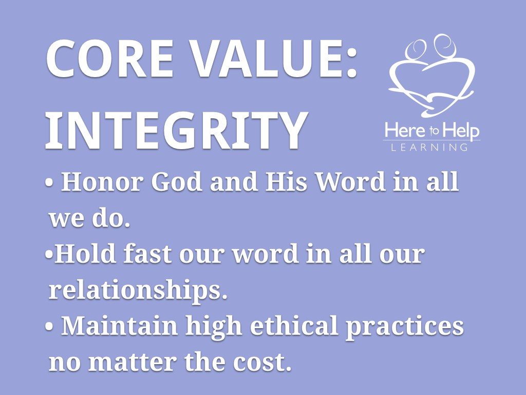 Core Values HTHL.003