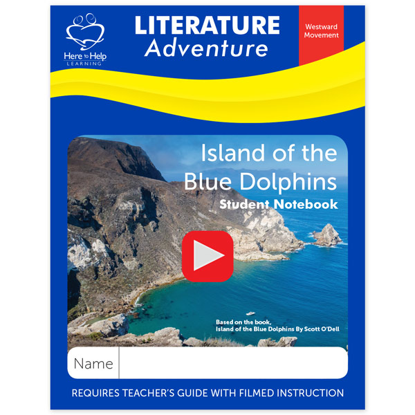 Here to Help Learning's Island of the Blue Dolphins Literature Student Notebook