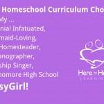 My Homeschool Curriculum Choices for My BusyGirl