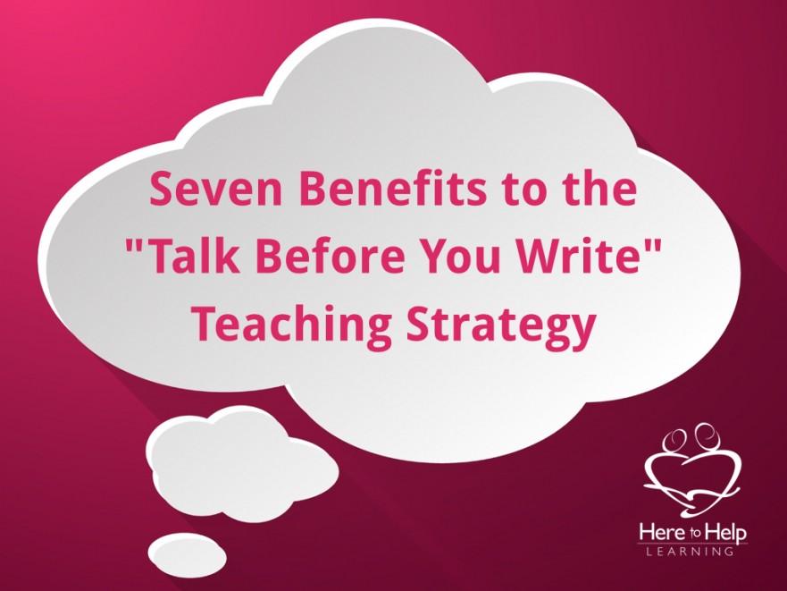 Talk Before You Write