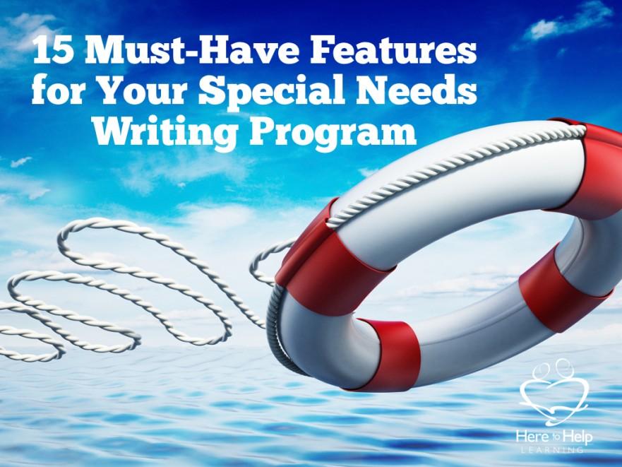Special needs writing program