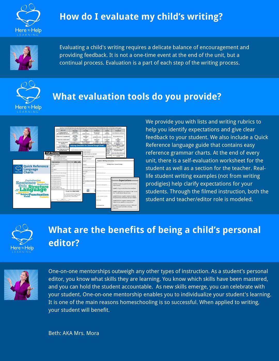 Homeschool Writing: Evaluating Writing